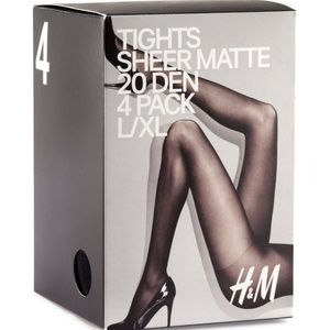 H&M 20 Den 4-Pack Tights Size S/M